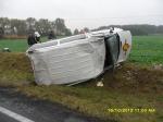 Wypadek samochodu dostawczego w Kuśnierzu