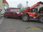 Wypadek na skrzyżowaniu dróg powiatowych w Wójcinie