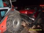 Wypadek na skrzyżowaniu dróg powiatowych w Wójcinie - 09.11.2012 r.