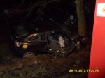 Wypadek samochodu osobowego w Wójcinie