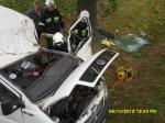 Wypadek samochodu dostawczego w Proszyskach - 06.10.2012